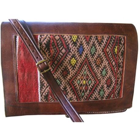 Briefcase Leather Men Bag Chestnut Brown man Shoulderbag Messenger Bag