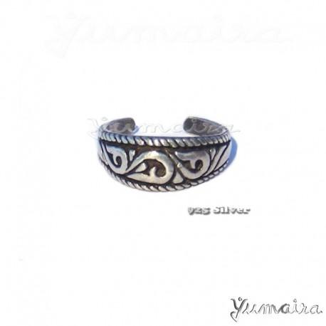 925 Silber Fußring Zehring Sterlingsilber Ring Silberring Damenring