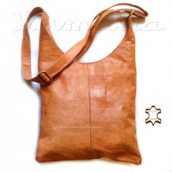 Leather Bag Shopper Natural
