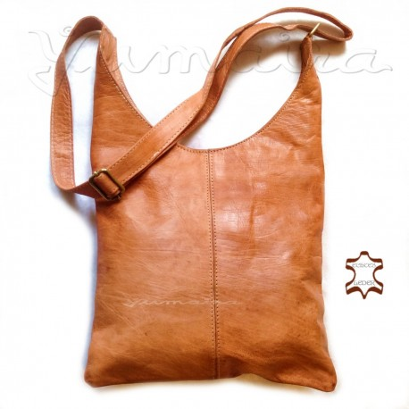 Ladies Leather Bag Shopper women Beige real natural leather light brown handmade