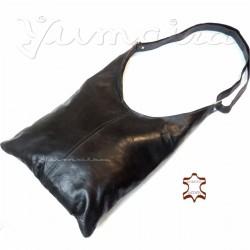 Damen Leder Tasche Shopper Schwarz Umhängetasche