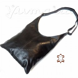 Leather Bag Shopper Black