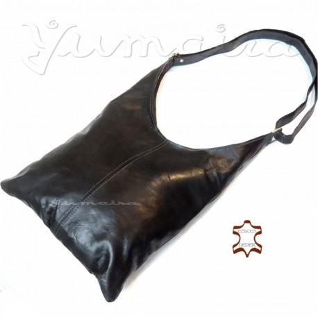 Ladies Leather Bag Shopper women Black real natural leather handmade