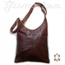 Damen echtes Leder Tasche Shopper Braun Umhängetasche Schultertasche Ledertasche Naturleder Echtleder Reißverschluss