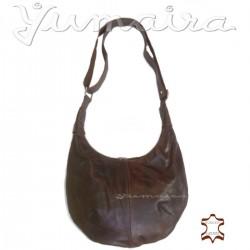 Bolso de Cuero Shopper Natural beige marrón claro de mujer de hombro mano