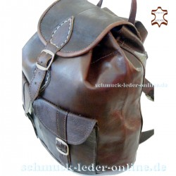 Small Leather Backpack Anapurna Chocolate brown 100% natural leather