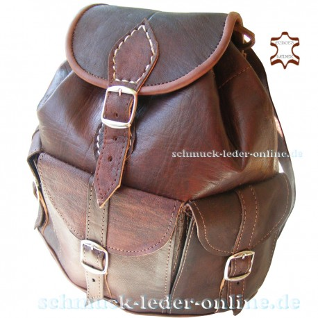 Small Leather Backpack Anapurna Chocolate brown