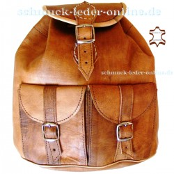 "Leather Backpack ""Anapurna"" Natural"