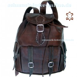 "Leather Backpack ""Toubkal"" Brown"