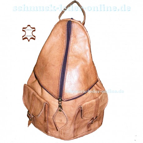 "Leather Backpack ""Titisee"" Natural"