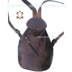 "Leather Backpack ""Atlantik"" Brown"