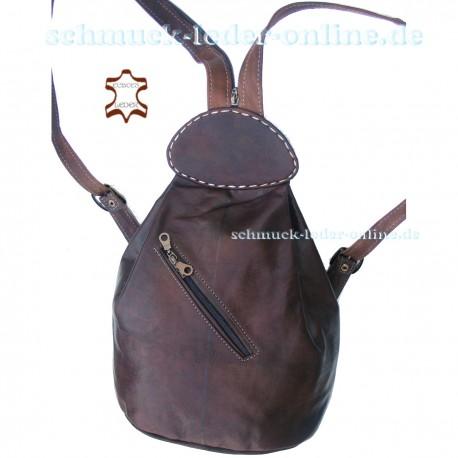 "Leather Backpack ""Atlantik"" Chocolate"