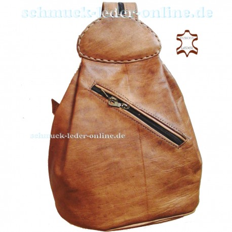 "Leather Backpack ""Atlantik"" Natural"