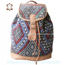 "Leather Backpack ""Siwa"" Natural"
