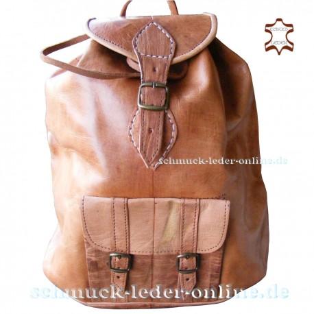 "Leather Backpack ""Jawala"" Natural XL large"