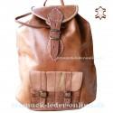 "Leather Backpack ""Jawala"" Natural"