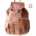 "Leather Backpack ""Tijuana"" Natural"