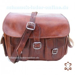 "Vintage Leder Tasche ""Mt.Fuji"" Rehbraun"