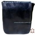 Q² S Black Mens small leather Bag