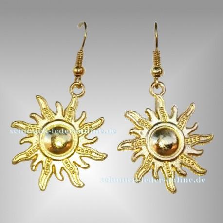Goldene Sonne Ohrringe Gold Farbe Modeschmuck