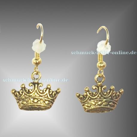 Golden Crown Earrings