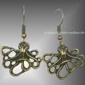Bronzene Oktopus Ohrringe