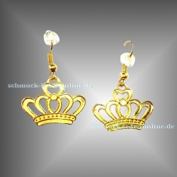 ♔ Golden Crown Earrings ♔