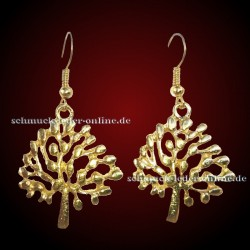 Golden Tree Earrings