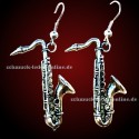 Silver Plated Sax Earrings