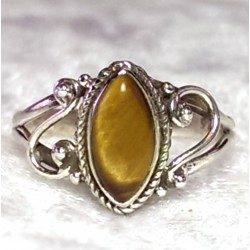925 Sterling Silver Tiger Eye Ring