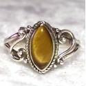 925 Sterling Silver Tiger Eye Ring