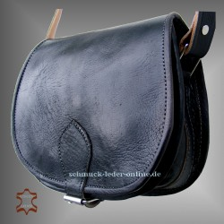 "Leather Bag ""Monika"" Black"