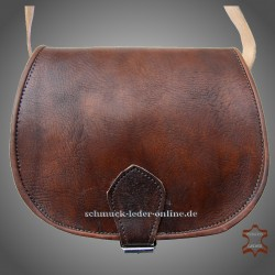 "Leather Bag ""Monika"" Brown"