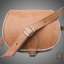 "Leather Bag ""Monika"" Natural leather color Light Brown Beige"