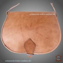 Damen Umhängetasche Beate Mittel-Natur Echtleder Tasche Naturleder Schultertasche Ledertasche echtes Leder Tasche Tragetasche