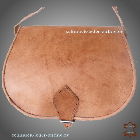 "Leather Bag ""Beatrice"" Natural Beige Light brown"