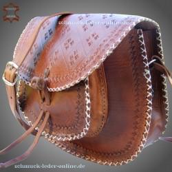 Vintage 60er Umhängetasche Janice Cognac Echtleder Tasche Naturleder Schultertasche Ledertasche echtes Leder Tasche Tragetasche