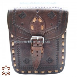 "Small Leather Bag ""Cordoba"" Chocolate braun Handmade"