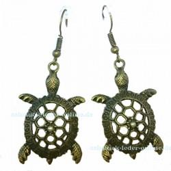 Bronzene Schieldkröte Ohrringe Modeschmuck Bronze farbe dunkel matt gold