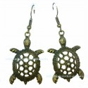 Antik Bronze Turtle Earrings
