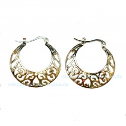 Golden Filigree Hoop Earrings