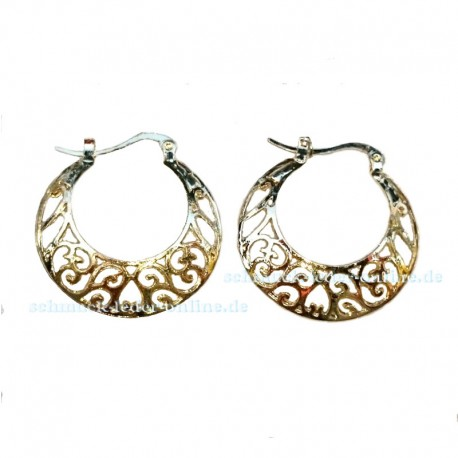 Golden Filigree Hoop Earrings Fashion Jewelry Jewellery