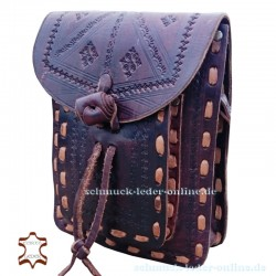 Small Leather Bag Granada Chocolate brown Handmade natural cowhide