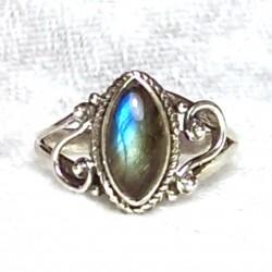 Sterlingsilber Labradorit Mondstein Ring