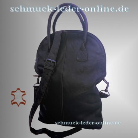 Damen echtes Leder Tasche Shopper Groß Schwarz 2in1 Umhängetasche Schultertasche Ledertasche Groß Naturleder Echtleder