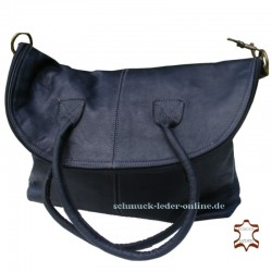 XXL Leather Bag Shopper Black