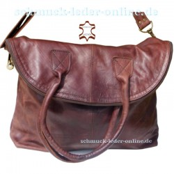 Extra Large Leather Bag XXL Shopper Brown real natural leather handmade sheep