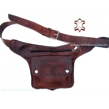 Hüfttasche Guerteltasche Naturleder Echtes Leder Tasche Goatasche Hipbag Umhängetasche Bauchtasche Gürtel