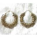Golden Hoops Earrings Brass