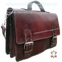 Leather Briefcase Klaus Brown